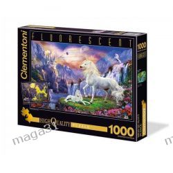 CLEMENTONI PUZZLE 1000 FLUO JEDNOROŻCE 39285