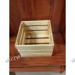 Skrzynka drewniana naturalna świerkowa lakierowana
