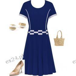 Śliczna sukienka Marta szafir 50