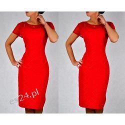 """Seksowna sukienka """"Ivonne"""" duże rozmiary czerwona 46"""