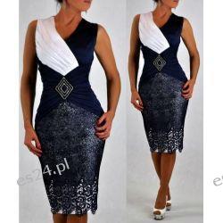 Śliczna sukienka Pamela granat 50