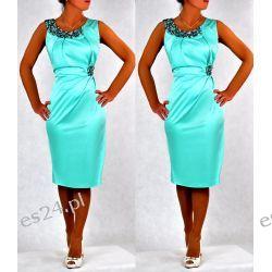 """Seksowna sukienka """"Beata"""" mięta duże rozmiary 46"""