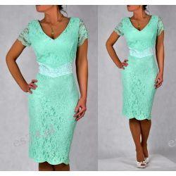 """Seksowna sukienka """"Venus"""" duże rozmiary mięta 50"""