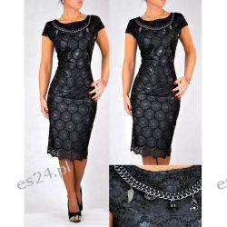 """Seksowna sukienka """"Jenny"""" duże rozmiary czarna 50"""