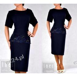 Elegancka sukienka Anastazja granat 50