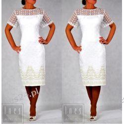 Elegancka sukienka Flora ecru 50