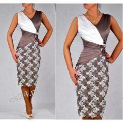 Elegancka sukienka Natalie beż 48