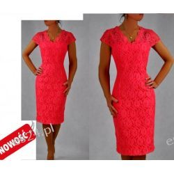 Śliczna sukienka Crucyfied koral 50