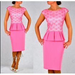 Śliczna sukienka Monari róż 48
