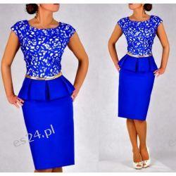 Śliczna sukienka Monari szafir 40