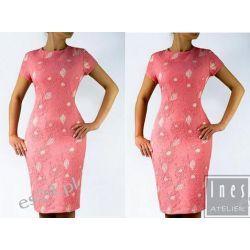 Elegancka sukienka Jowita koral 50