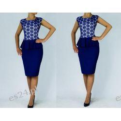 Śliczna sukienka Monari szafir 48