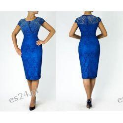 """Seksowna sukienka """"Adria"""" duże rozmiary szafir 46"""