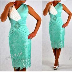 Śliczna sukienka Pamela mięta 48