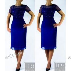 "Seksowna sukienka ""Anna"" duże rozmiary szafir 48"