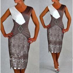Śliczna sukienka Pamela beż 50