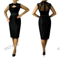 """Seksowna sukienka """"Eliza"""" duże rozmiary czerń 46"""