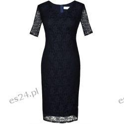 Seksowna sukienka z koronki granatowa 50