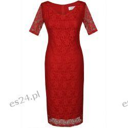 Seksowna sukienka z koronki czerwona 50