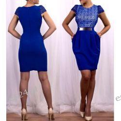 Elegancka sukienka Augusta szafir 46