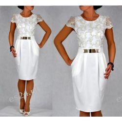 Elegancka sukienka Augusta ecru 46