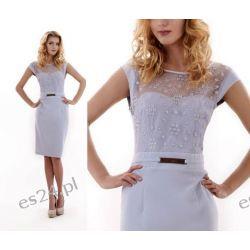 "Seksowna sukienka ""Victoria"" duże szara 48 Odzież damska"