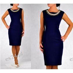 Elegancka sukienka Koliazone granatowa 48