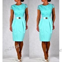 Elegancka sukienka Augusta mięta 44