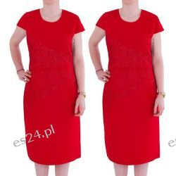 Śliczna sukienka Arleta czerwień 50