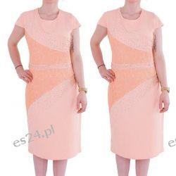 Śliczna sukienka Arleta morela 50