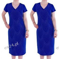 Śliczna sukienka Safira szafir 50