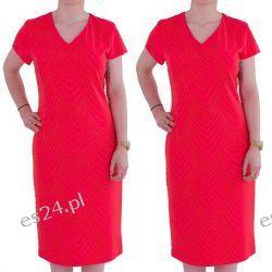 Śliczna sukienka Safira koral 50