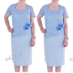 Śliczna sukienka Anita błękit 50