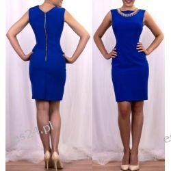 Elegancka sukienka Koliazone szafirowa 48