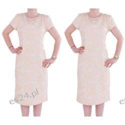 """Seksowna sukienka """"Mona"""" róż 50"""