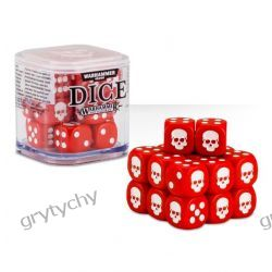 Dice Cube - Red CZERWONE KOŚCI Warhammer GRY TYCHY Gry
