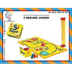 Trefl 01138 Gra rodzinna 5 SEKUND JUNIOR 6+ TYCHY