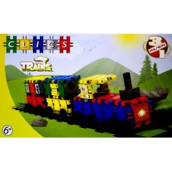 Klocki CLICS TRAINS 3w1 120el Pociąg TYCHY