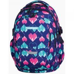 Plecak młodzieżowy CoolPack Factor Pixel Hearts 29L