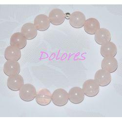 Bransoletka z kwarcu różowego - kulki 1 cm