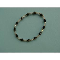 Czarno-kryształowa bransoletka z kryształów Swarovskiego Komplety
