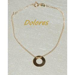 Celebrytka - bransoletka z rodowanego i złoconego srebra Na rękę