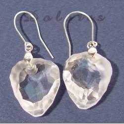 Kolczyki srebrne z kryształami Swarovskiego 24 mm x 20 mm Na rękę