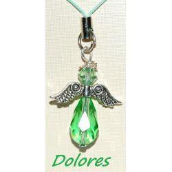 Zawieszka do telefonu - zielony aniołek nadziei Komplety