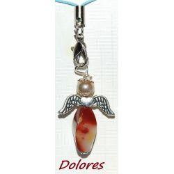 Aniołek z jaspisu mookait z główką z perły Majorka na wzmocnienie Pozostałe