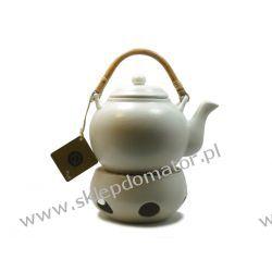 Dzbanek z podgrzewaczem - 1.1 litra - ecru mat