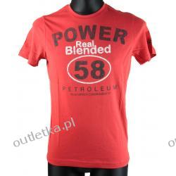 T-shirt męski, BLEND, czerwona z napisami