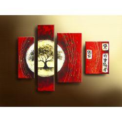 """obrazy nowoczesne """"wenge love"""" bardzo efektowny, metaliczny obraz Akryl"""