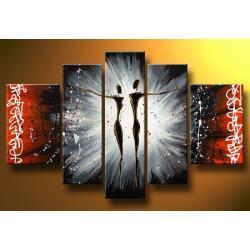 """""""graffiti love"""" obrazy nowoczesne ręcznie malowany  w technice strukturalnej Akryl"""