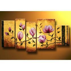 """""""magnolie"""" strukturalny, ręcznie malowany Akryl"""